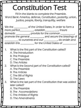 Constitution Test