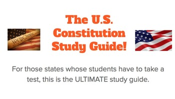 Constitution Test Study Guide