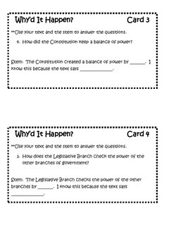 Constitution Thought Starters