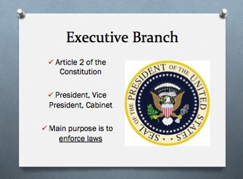 Constitution - Three Branches of Government