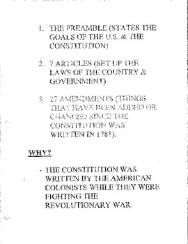 Constitution Tutoring Notes for Remedial Students