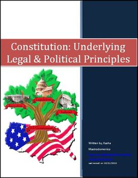 Constitution Underlying Legal and Political Principles Differentiated Lesson