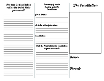 Constitution Unit Project - Brochure