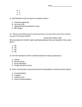 Constitution Unit Test