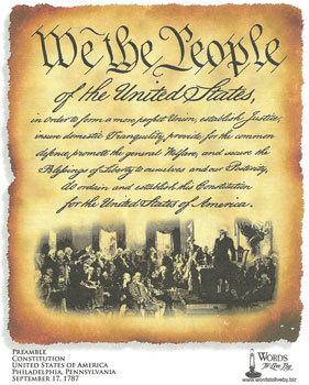 Preamble - Constitution United States Of America