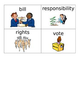 Constitution Vocabulary Flashcards for ESL, ELL, ESOL