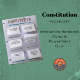Constitution:  Vocabulary Fold Up