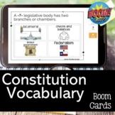 Constitution Vocabulary Review BOOM CARDS