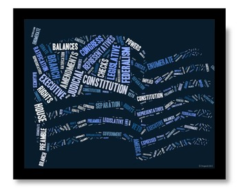 Constitution Vocabulary image for Classroom Decoration Poster or Sign