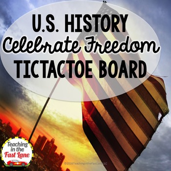 Celebrate Freedom Week Constitution Week TicTacToe Choice Board