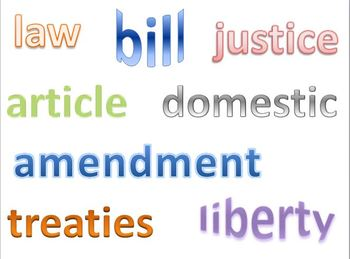 Constitution Word Wall / Vocabulary