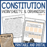 US Constitution Worksheets | Graphic Organizers | Printabl