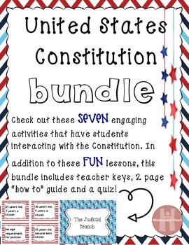 Constitution Activities Bundle