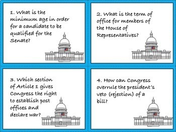 Constitution and Bill of Rights Unit: 18 Activities and Projects