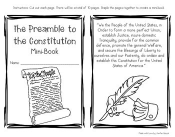 Constitution and Bill of Rights Bundle- 4 Excellent Products in One File!