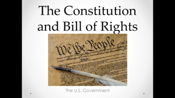 Constitution and Bill of Rights (Lesson Plan, PowerPoint, Activity, and Quiz)