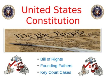 Constitution and Bill of Rights Powerpoint - Founding Fathers of America