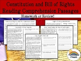 Constitution and Bill of Rights Reading Comprehension Pack