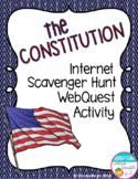 Constitution Internet Scavenger Hunt WebQuest Activity