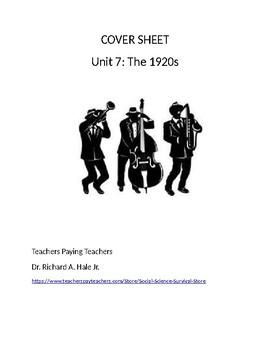 US History: The 1920s Common Core Unit Guide