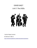 US History: The 1920s Common Core Unit Guide