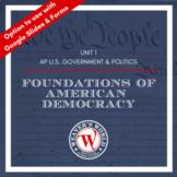 AP Government & Politics Unit 1 Materials - Foundations of