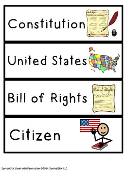 Constitution and Founding Fathers Unit for Autism and Special Education