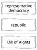 Constitution and Government Vocabulary Cards - SS4H2, SS4CG1, SS4CG2, SS4CG3