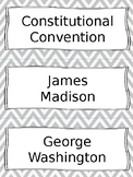 Constitution and Government Vocabulary Cards - SS4H2, SS4C