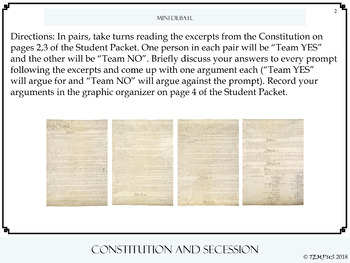 Constitution and Secession Hook Activity