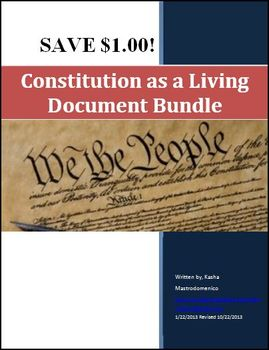 Constitution as a Living Document Bundle