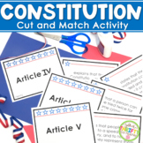 Constitution of the United States cut and sort activity - Constitution Day