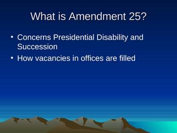 Constitutional Amendment 25 Game