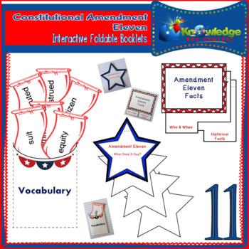 Constitutional Amendment Eleven Interactive Foldable Booklets