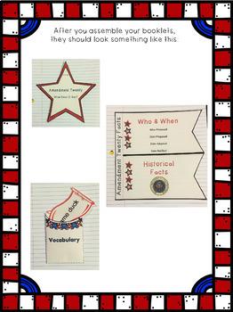 Constitutional Amendment Twenty Interactive Foldable Booklets