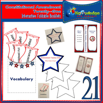 Constitutional Amendment Twenty-One Interactive Foldable Booklets
