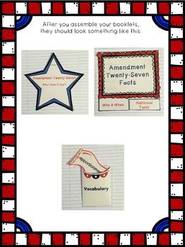 Constitutional Amendment Twenty-Seven Interactive Foldable Booklets