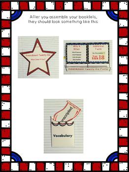 Constitutional Amendment Twenty-Six Interactive Foldable Booklets