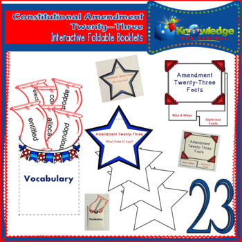 Constitutional Amendment Twenty-Three Interactive Foldable Booklets