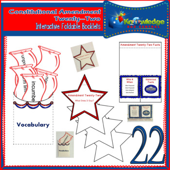 Constitutional Amendment Twenty-Two Interactive Foldable Booklets