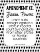 Constitutional Amendments 11-27 Paraphrased POSTERS - Black and White