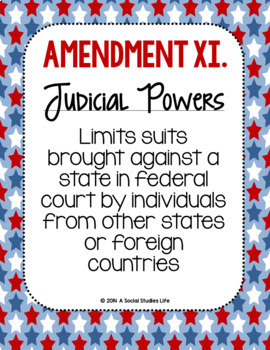 Constitutional Amendments 11-27 Paraphrased POSTERS