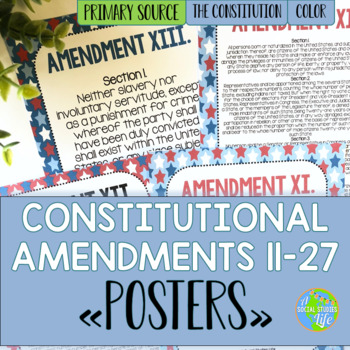 Constitutional Amendments 11-27 Primary Source POSTERS
