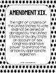 Constitutional Amendments 11-27 Primary Source POSTERS - Black and White