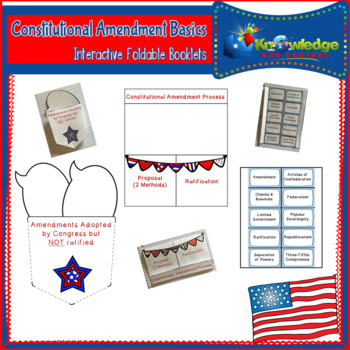 Constitutional Amendments Basics Interactive Foldable Booklets
