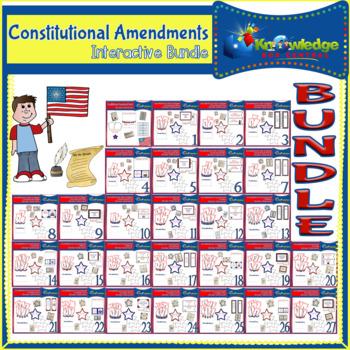 Constitutional Amendments Interactive Foldable Booklets BUNDLE