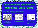 Constitutional Amendments Memory/ Matching Game