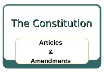 Constitutional Amendments PowerPoint