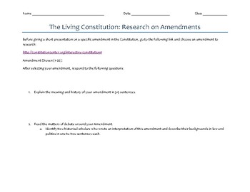 Constitutional Amendments Research