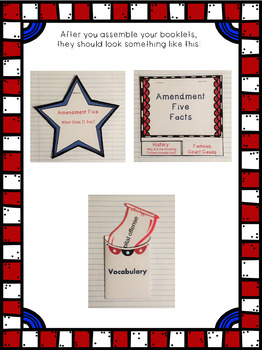 Constitutional Bill of Rights: Amendment Five Interactive Foldable Booklets